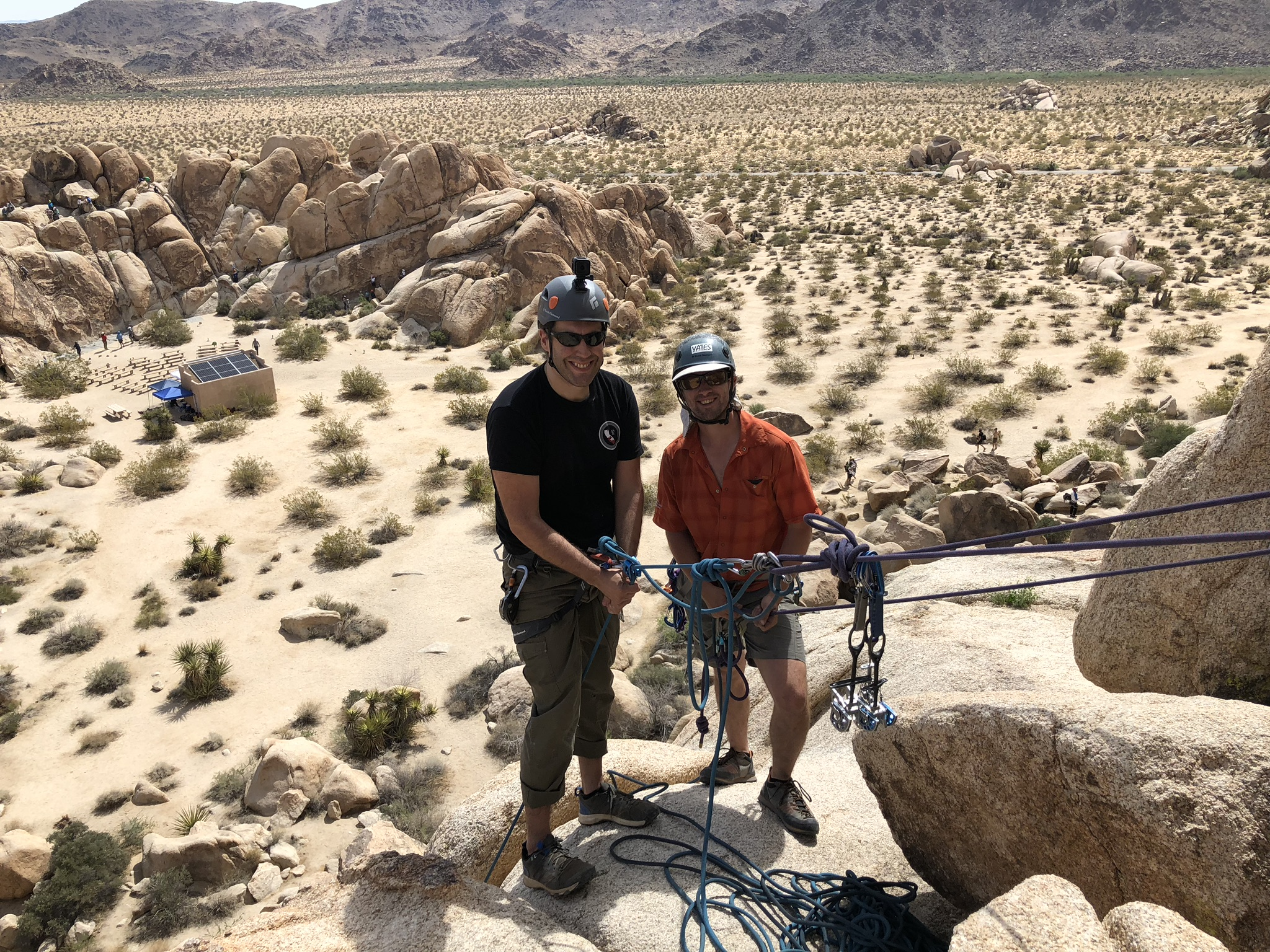 Rappelling Joshua Tree National Park