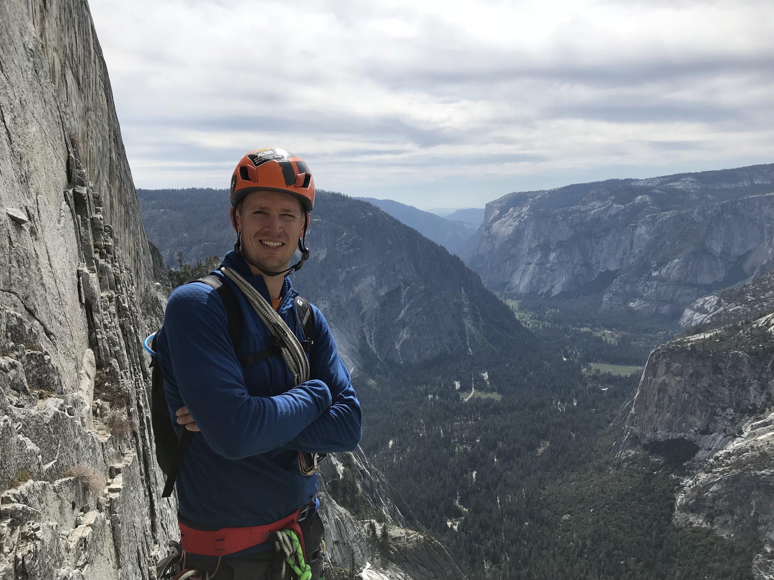 Jonathan Wachtel Half Dome Rock Climbing Yosemite, CA