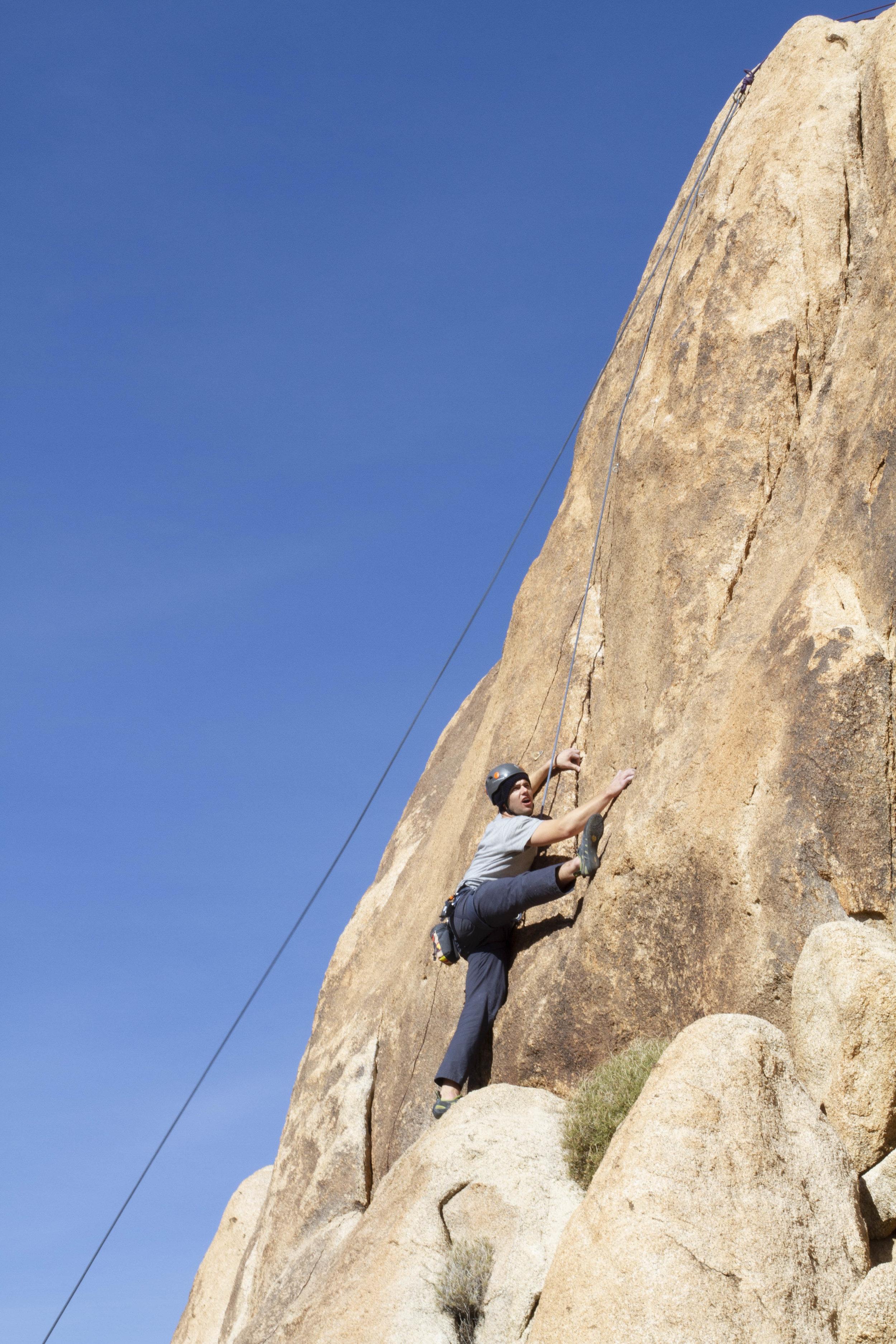 Joshua Tree Rock Climbing Indian Cove