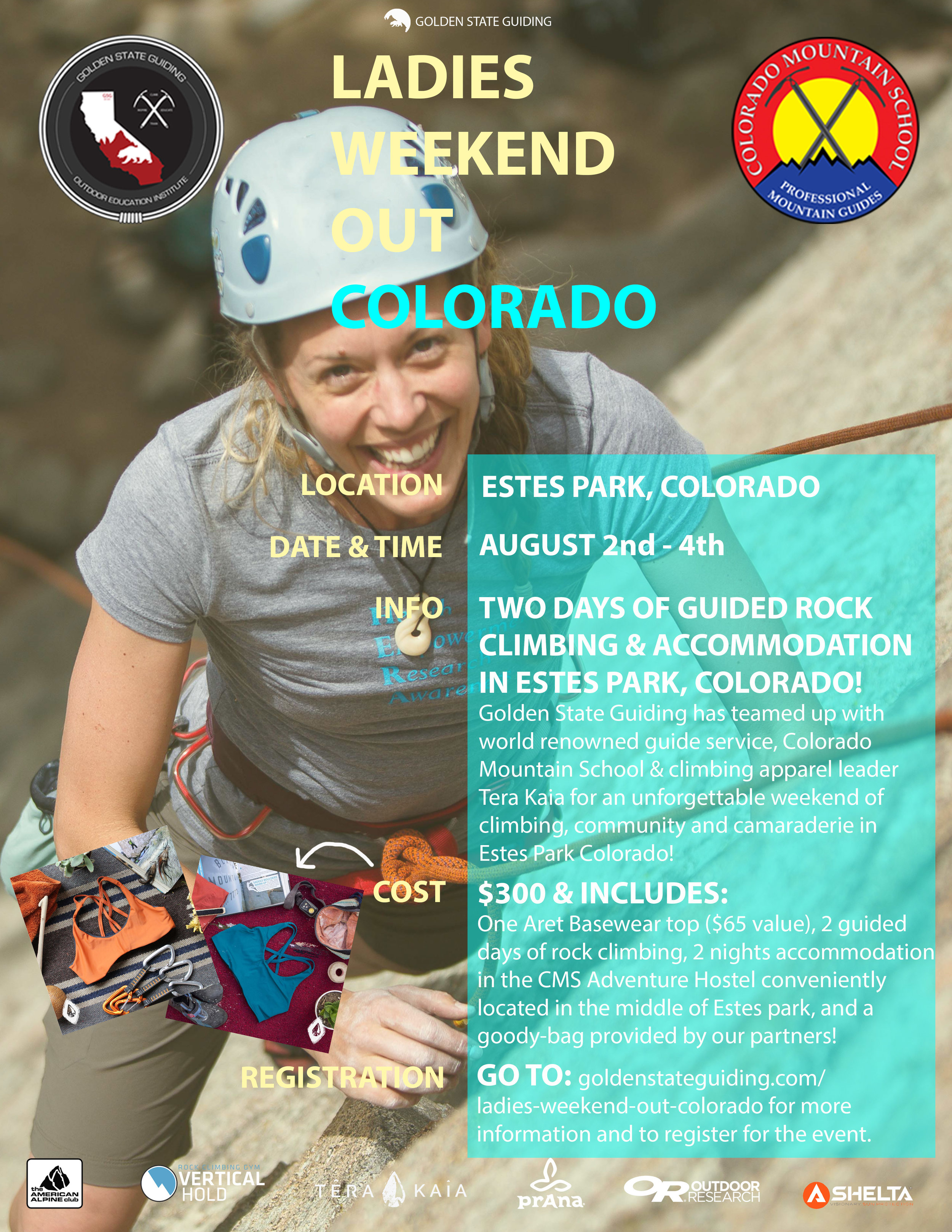 Ladies Weekend Out Colorado Estes Park Rock Climbing