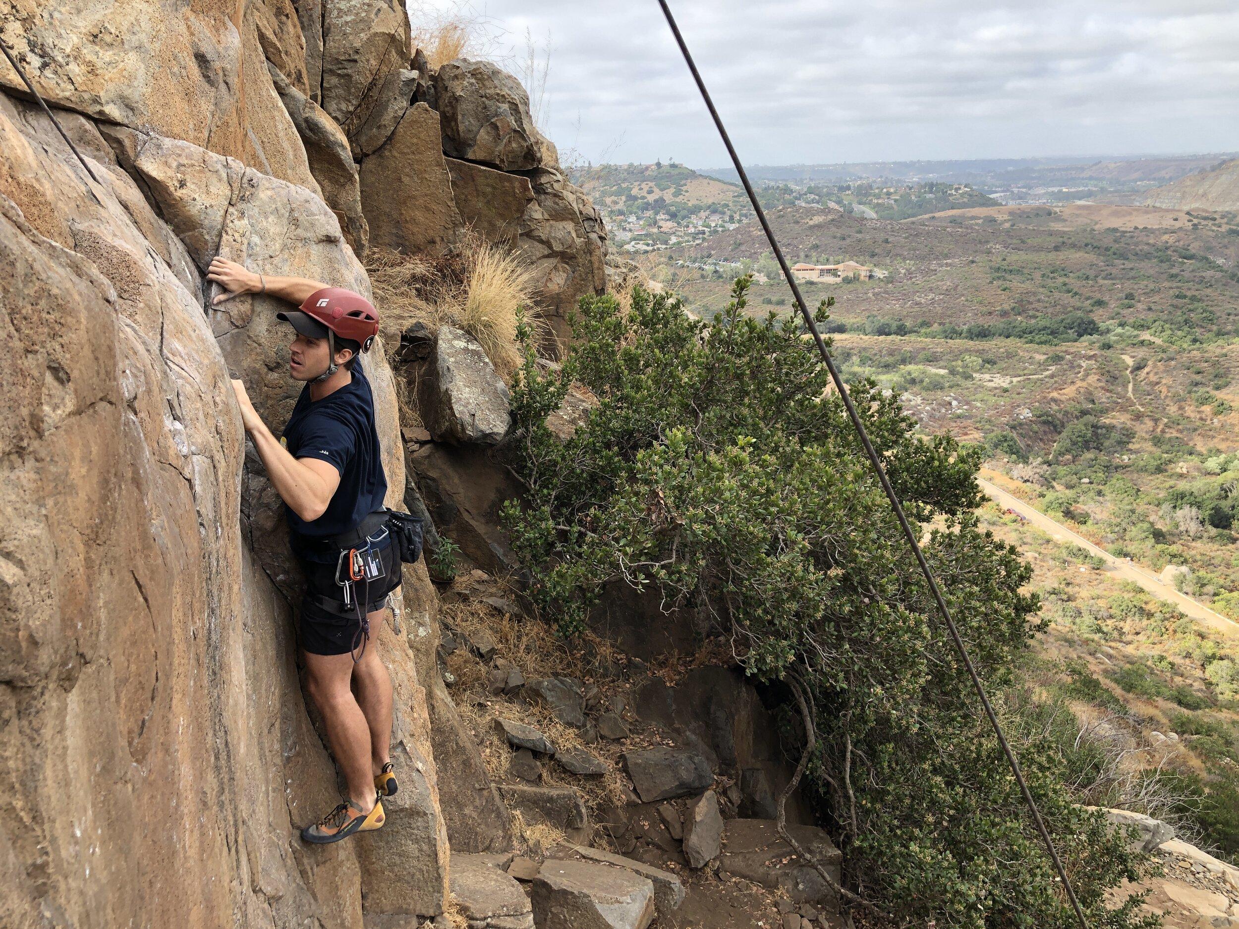 Mission Gorge Rock Climbing San Diego