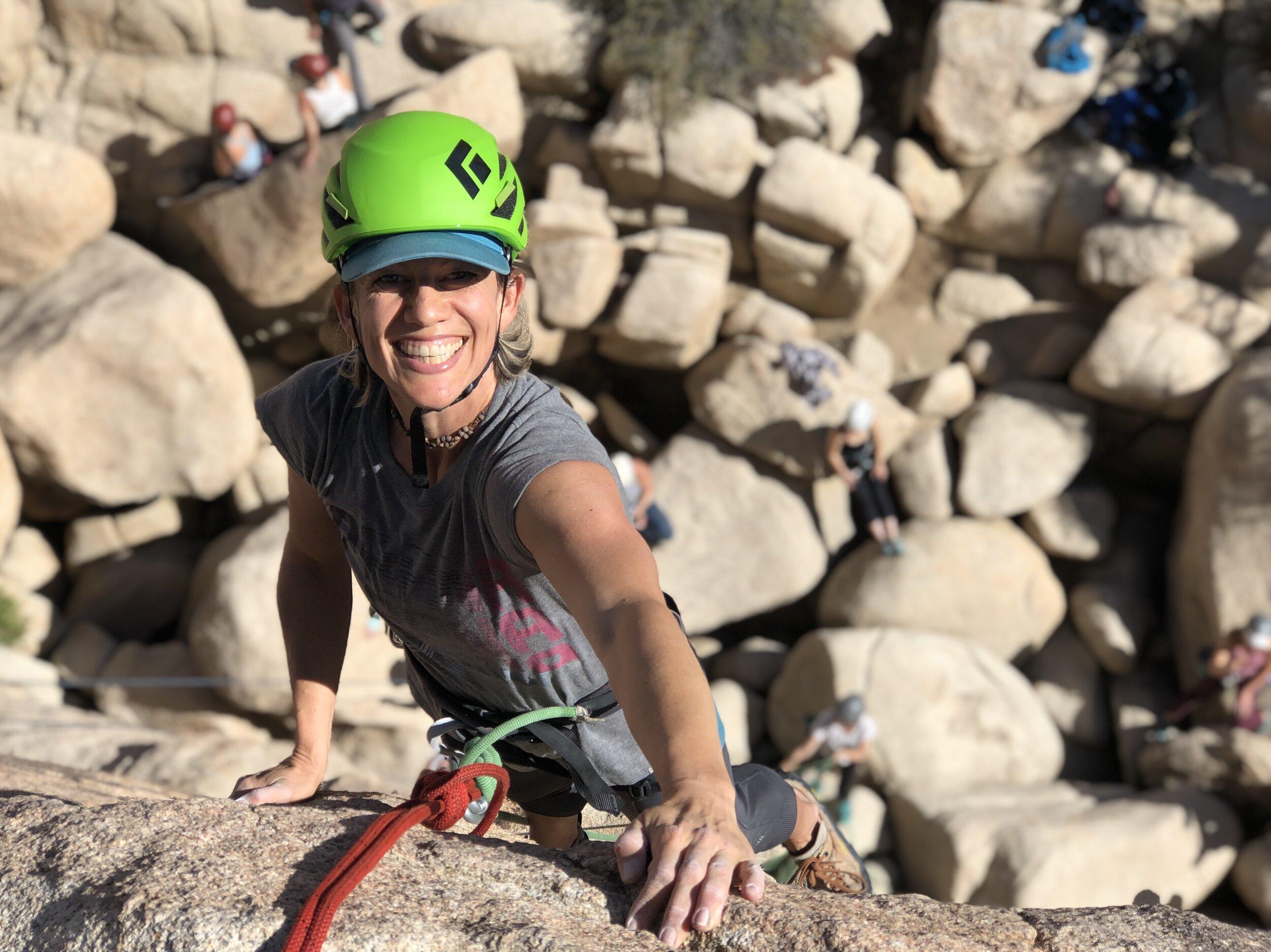 Ladies Weekend Out Joshua Tree Rock Climbing