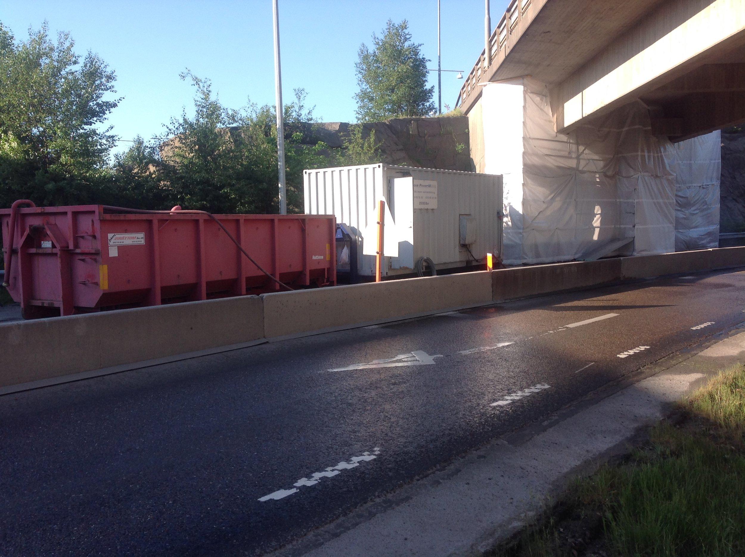 Röda Sten Göteborg: Reparation frontmurar på Röda Stens bron för Svevia 2018