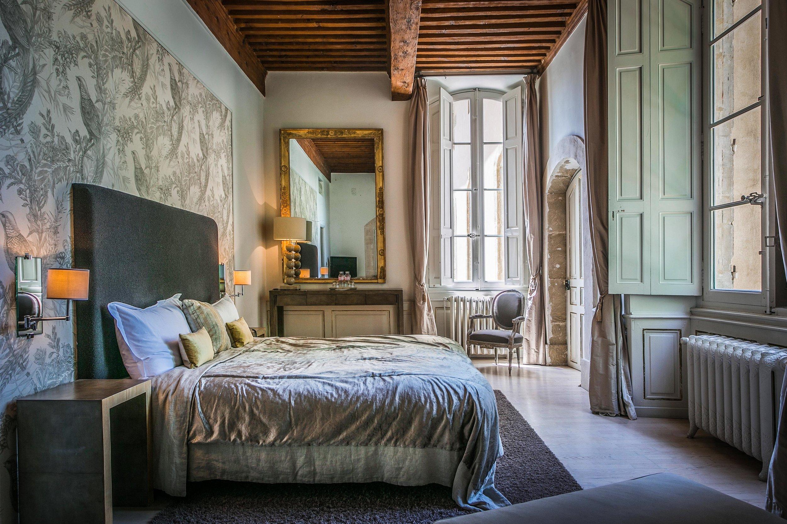 Kamer - idyllische - château de massillan - Reizen met kinderen - Slapen in een kasteel
