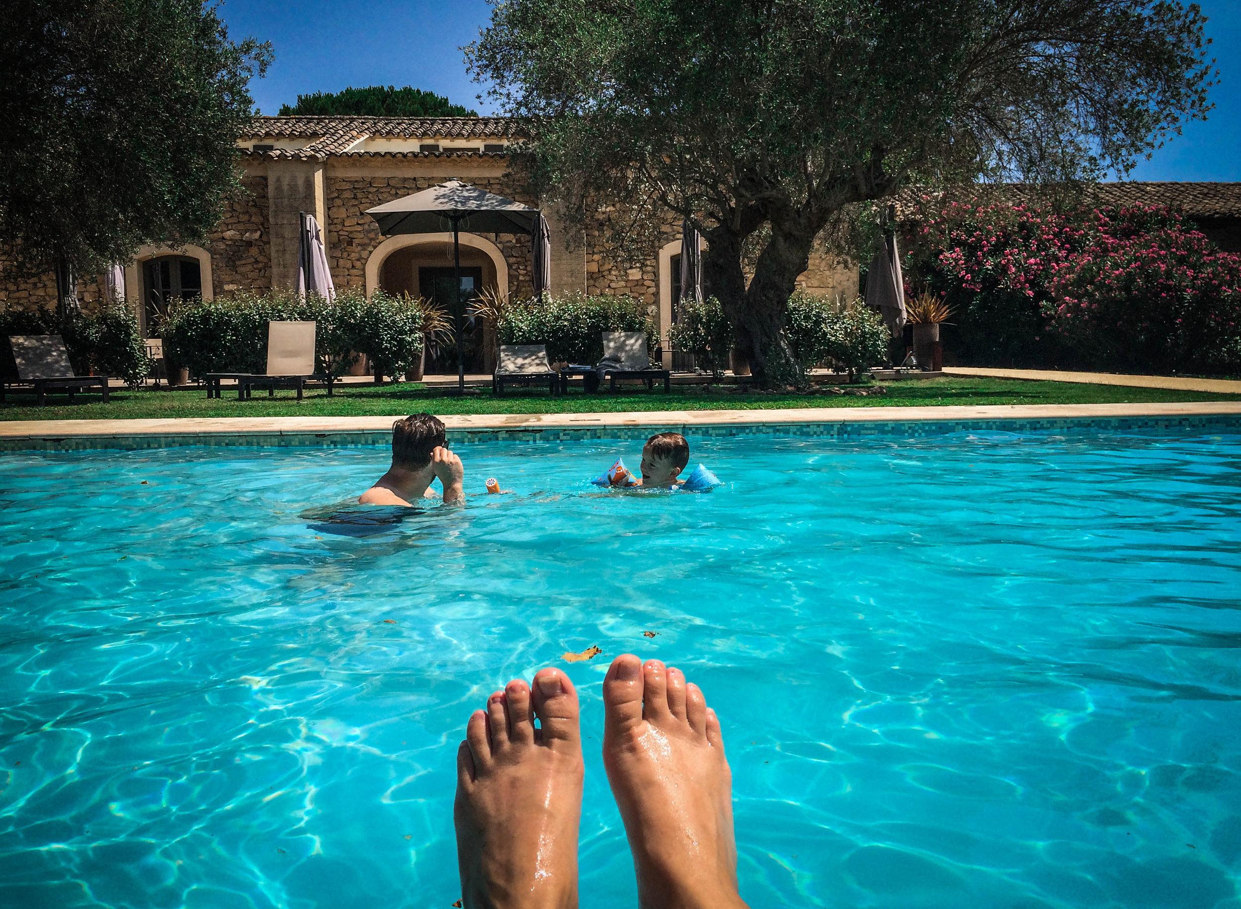Zwembad - idyllische hotels - La bégude Saint Pierre - Reizen met kinderen - Pont de Gare