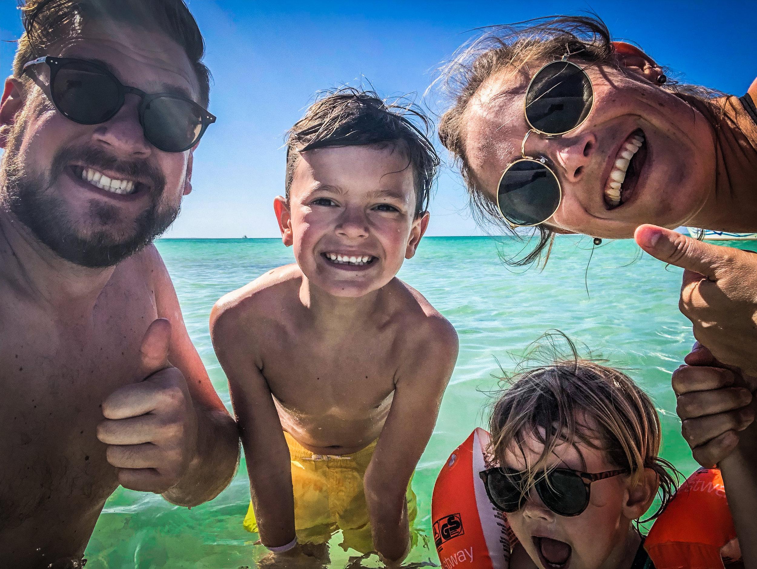 Familie selfie - Cuba