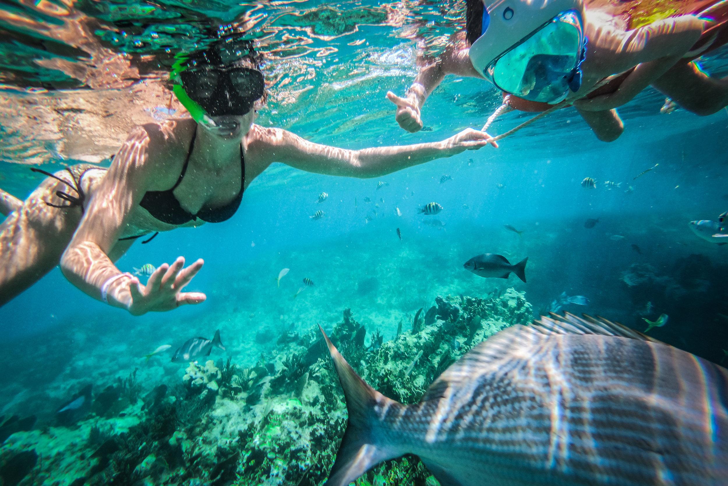 Snorkelen met kinderen in Cuba