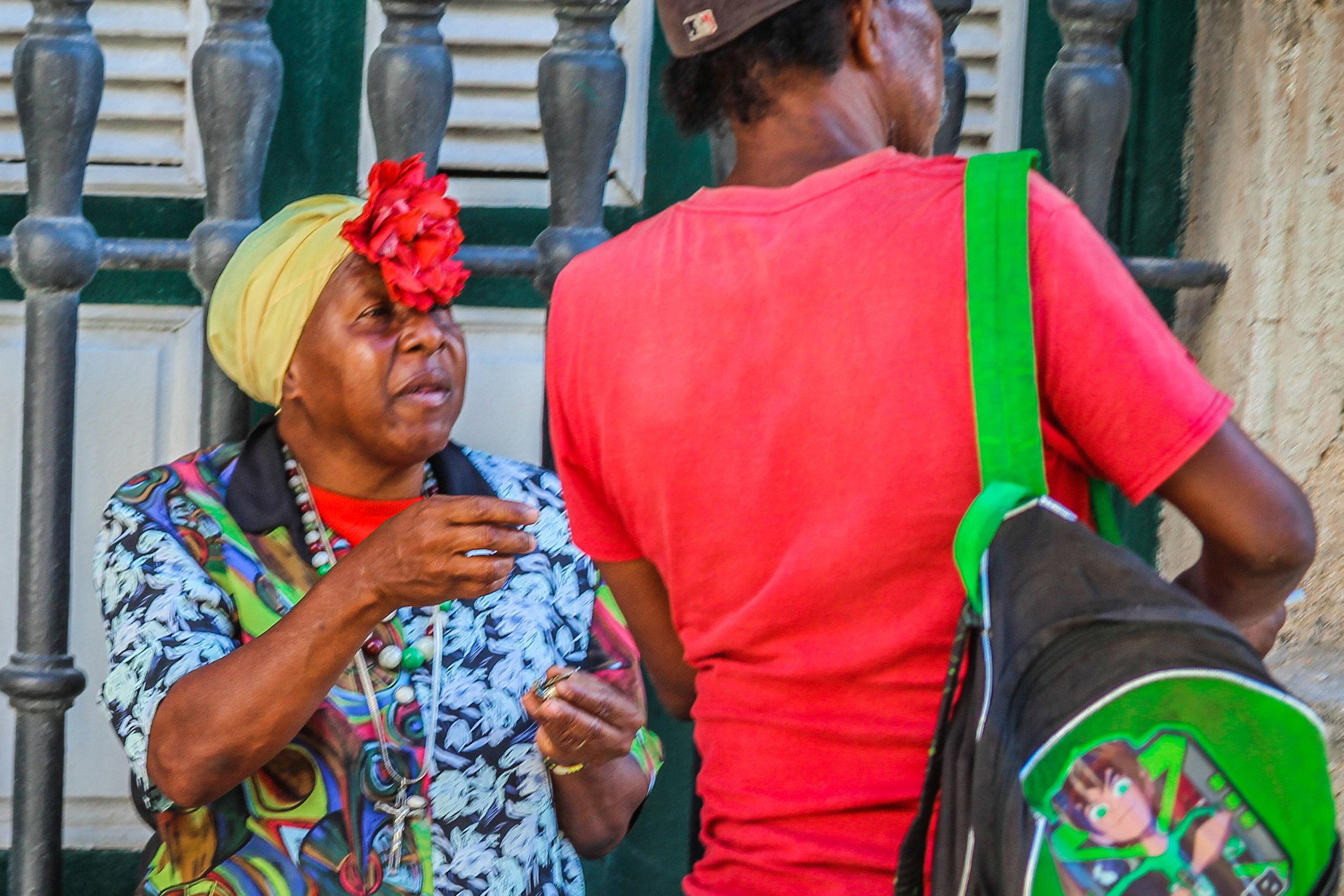 oude vrouw havana cuba