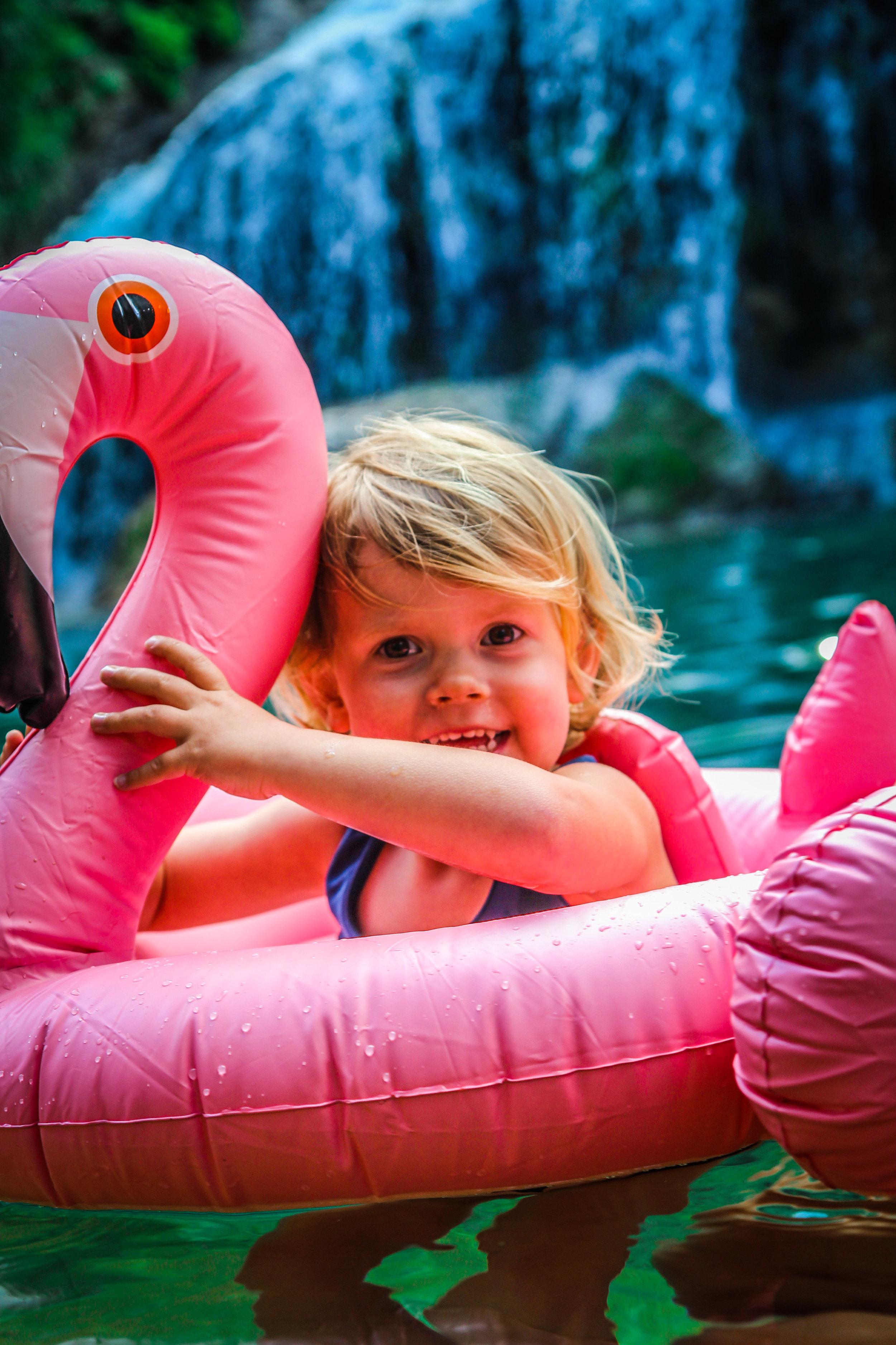 opblaasbare Flamingo - reizen met kinderen - Cuba