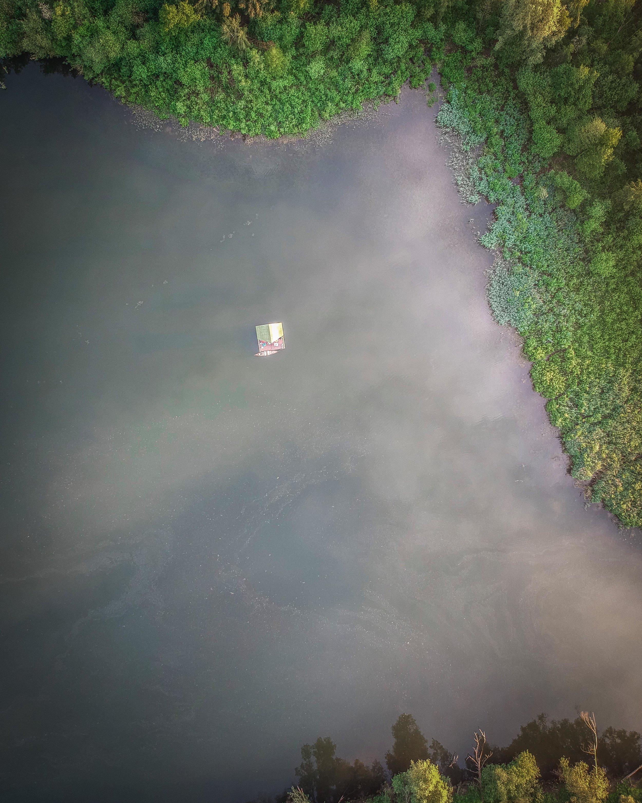 Droneshot kamperen
