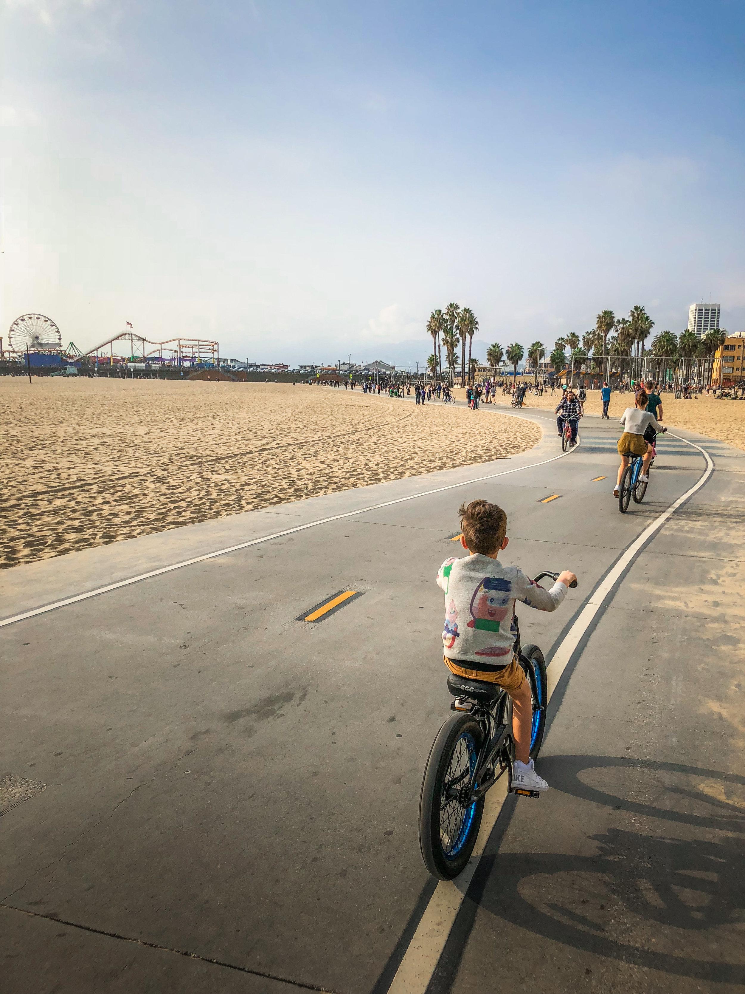 Santa monica Bike ride Venice beach