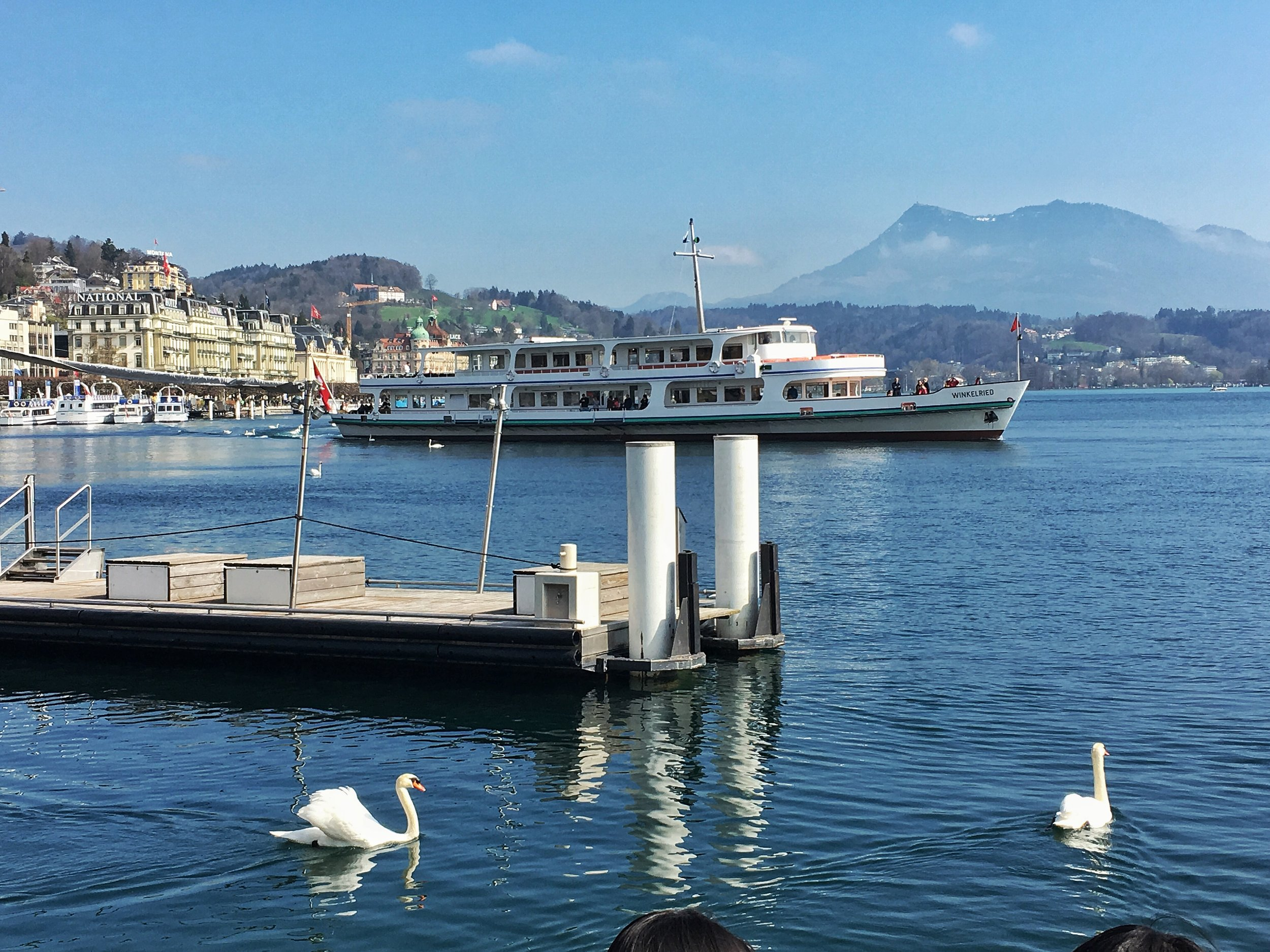 No visit is complete without a cruise on  Lake Luzern  (officially the Vierwaldstättersee). Numerous 100+ year-old steam ships are available for just this purpose. The lake itself is a lot bigger than you'd expect and you can easily enjoy a several hour boat cruise to the other end and back.