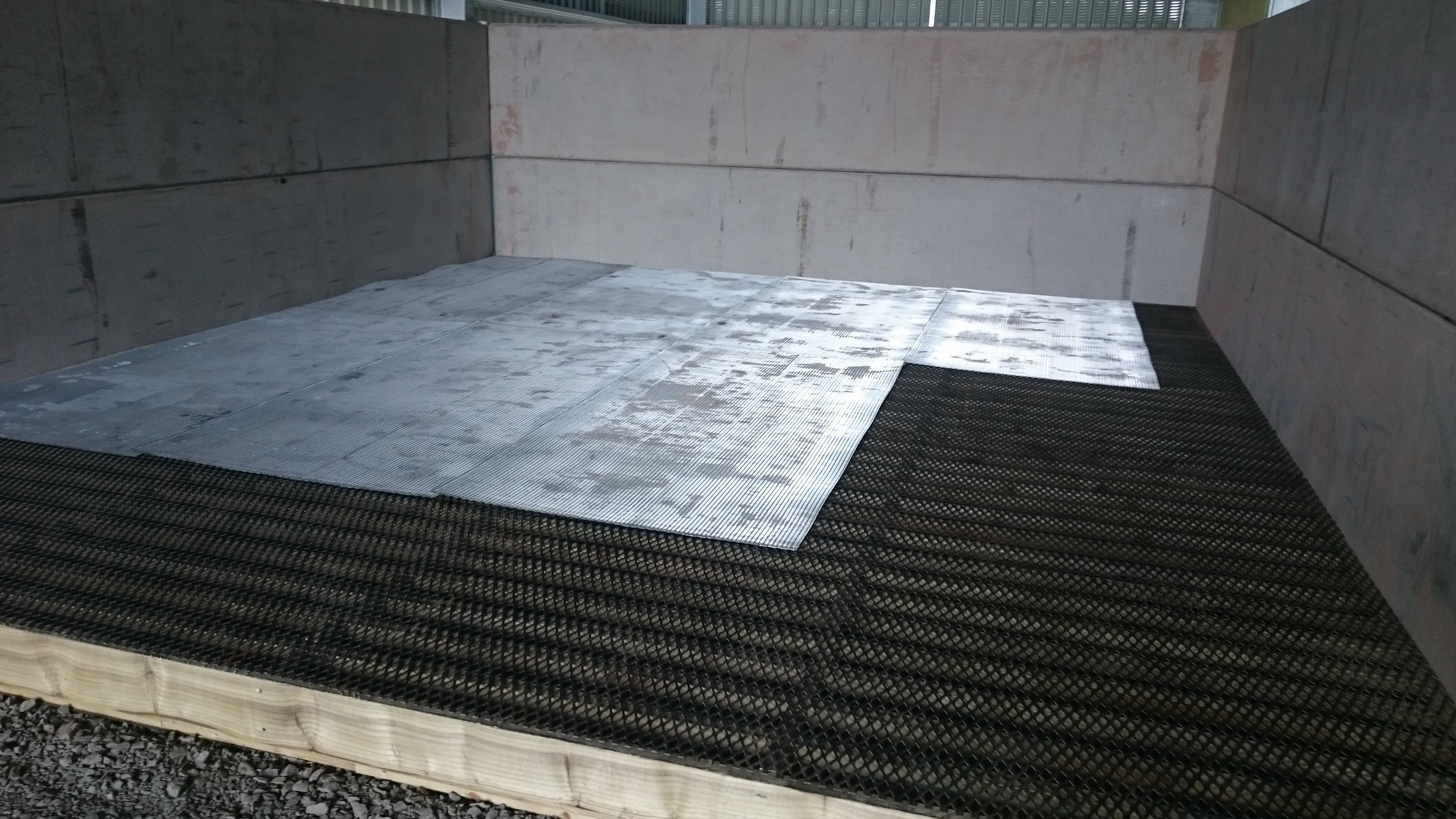 Drying floor installation