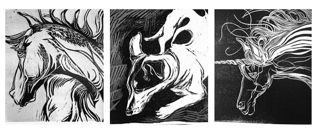 Some square prints for this exhibition!