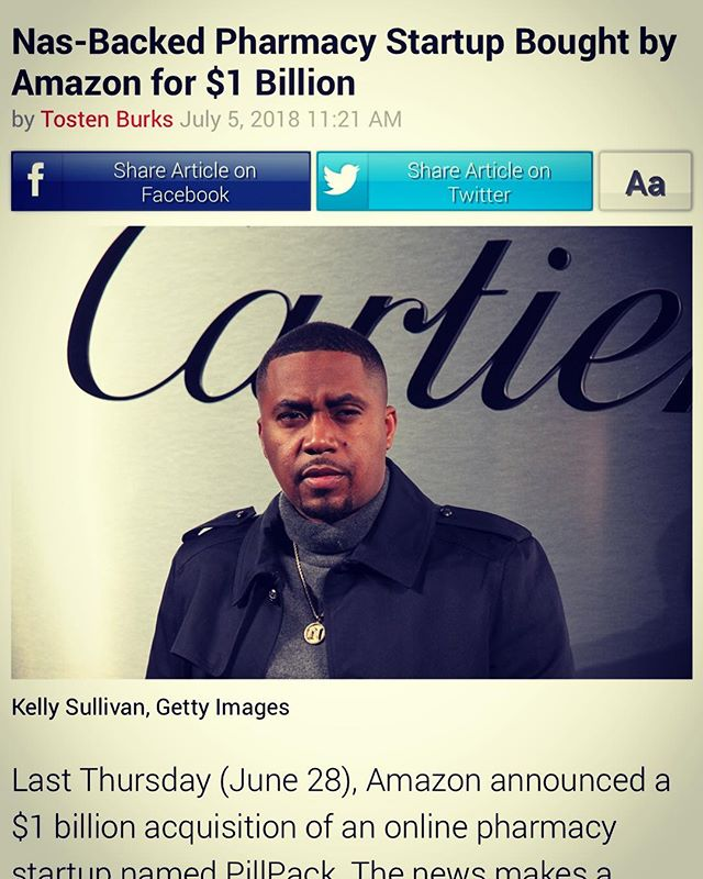 Salute to the homie @nas #blkinnovators #nas #hiphop #venturecapital #amazon
