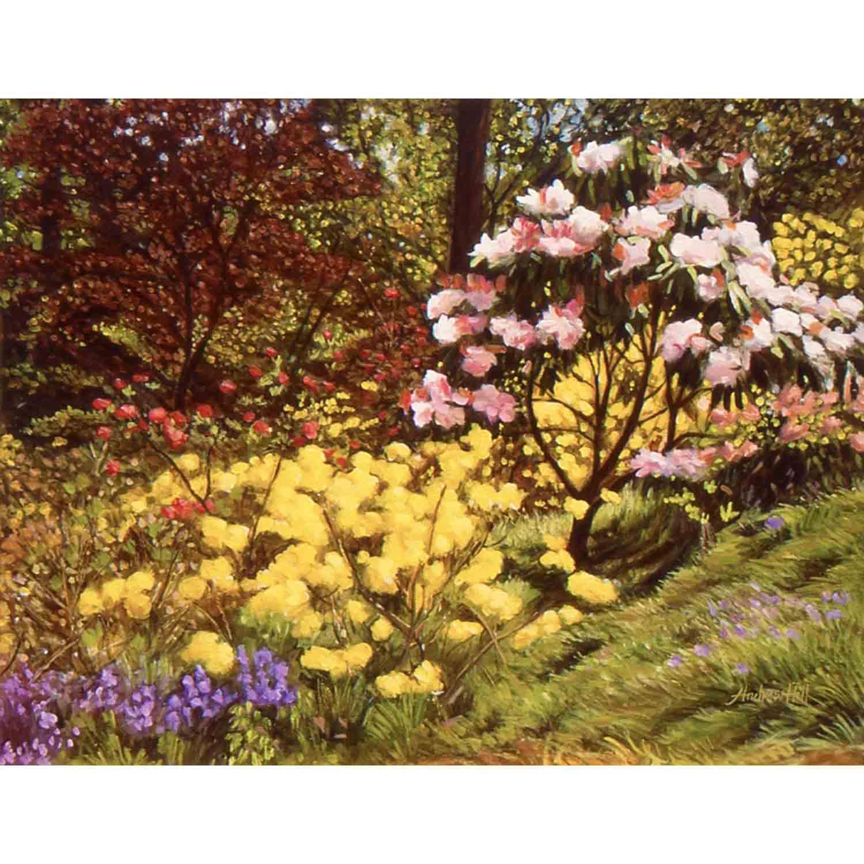 Leonardslee Blooms - oil on board