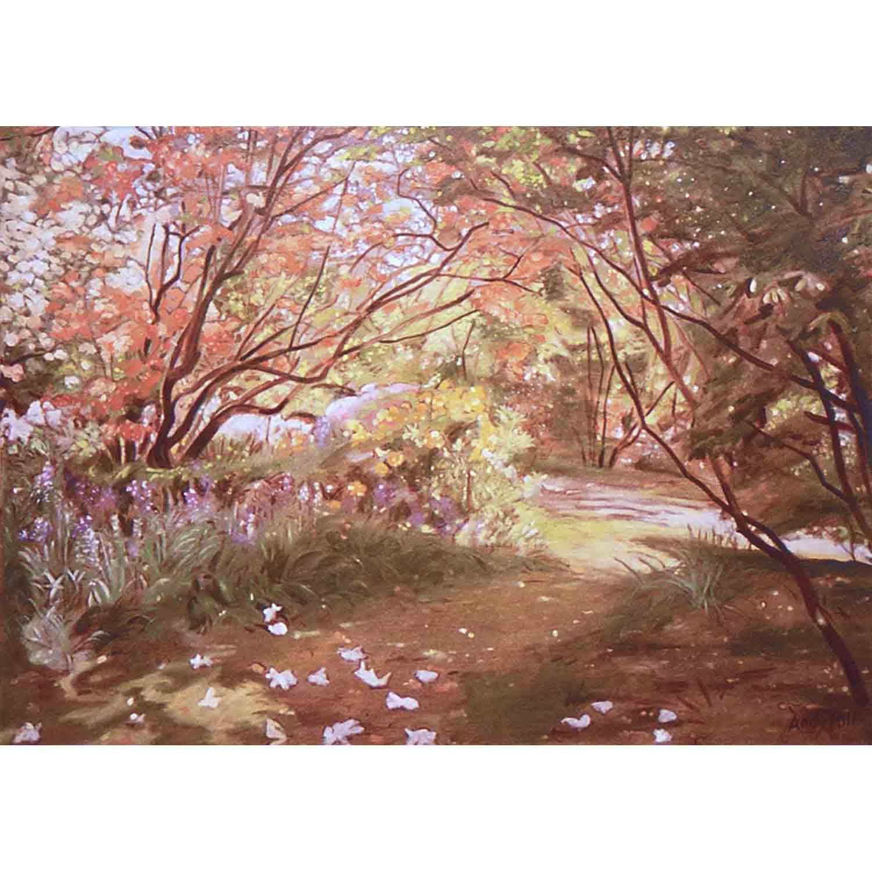 Leonardslee Blossoms - oil on canvas