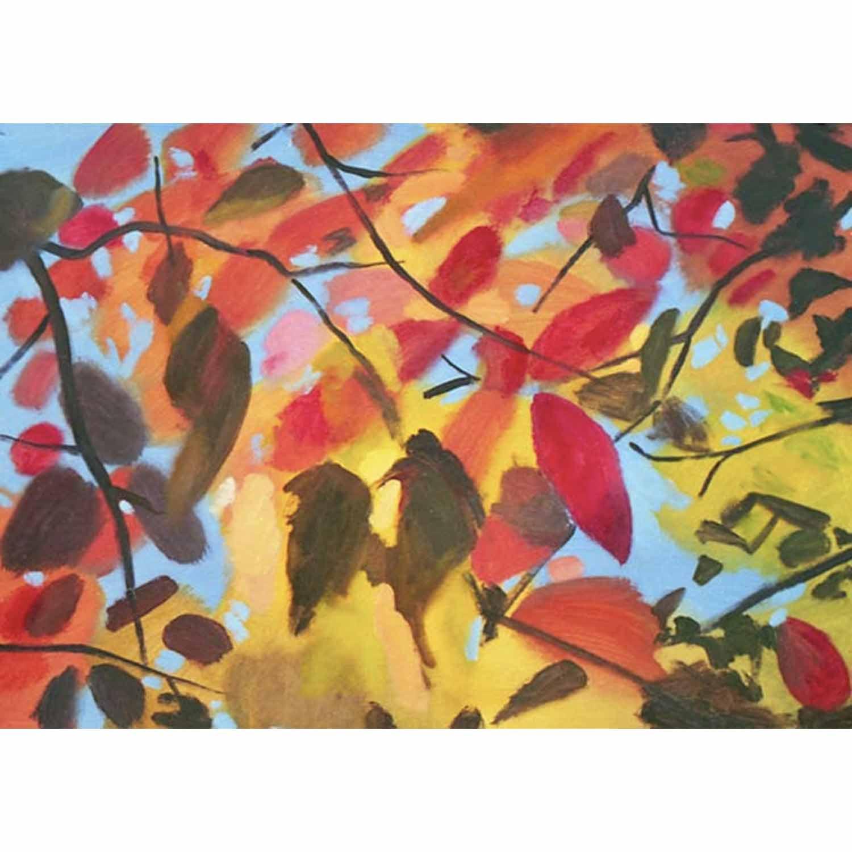 Light Through Leaves - oil on paper