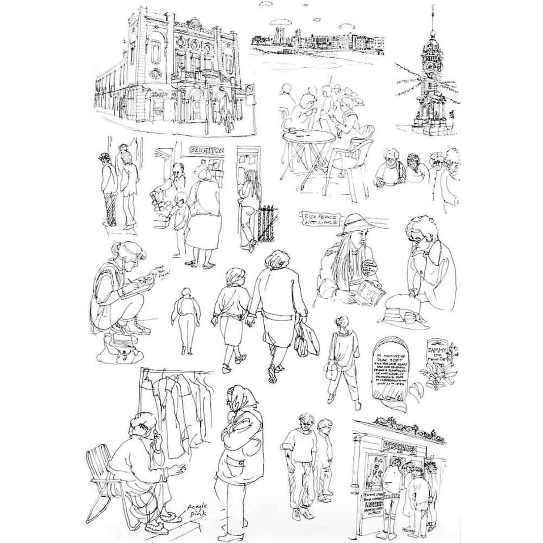 Brighton Sketches, 1987 - pen