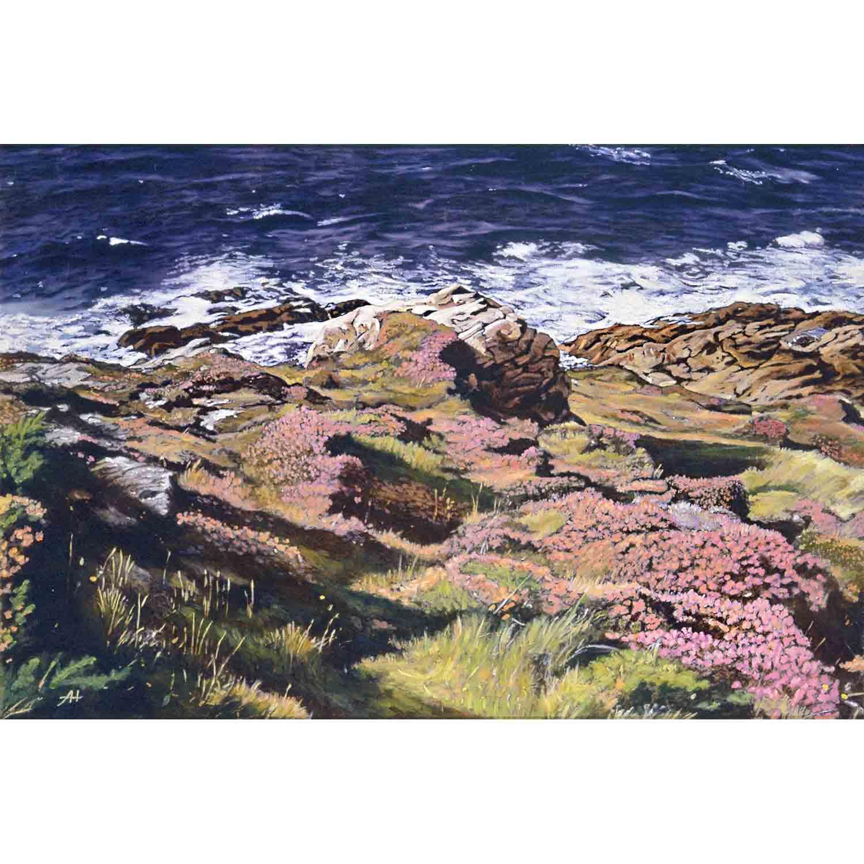 Cornish Coastline - oil on board