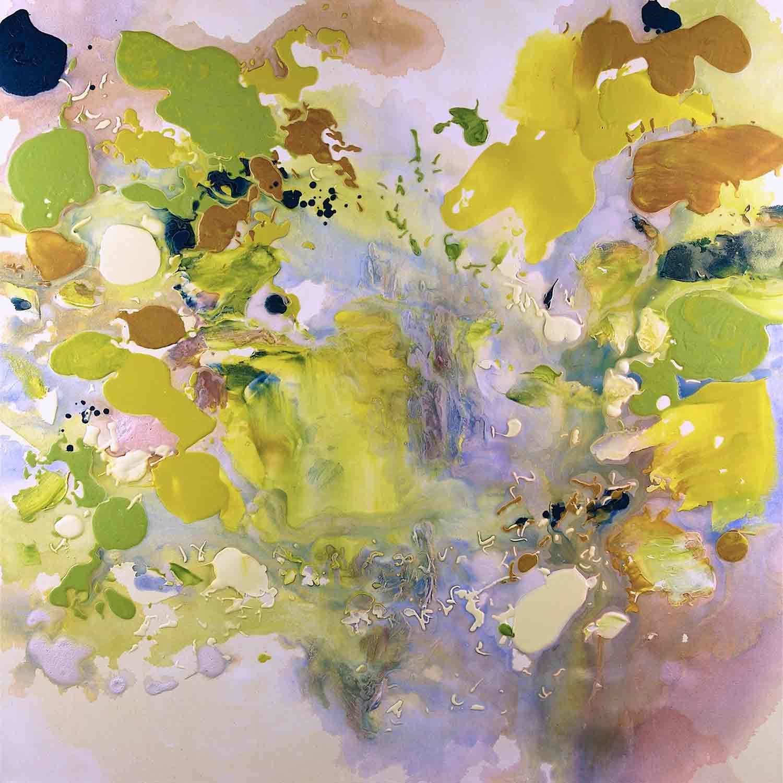 Oasis 1, Acrylic on canvas, 115 x 115 cm