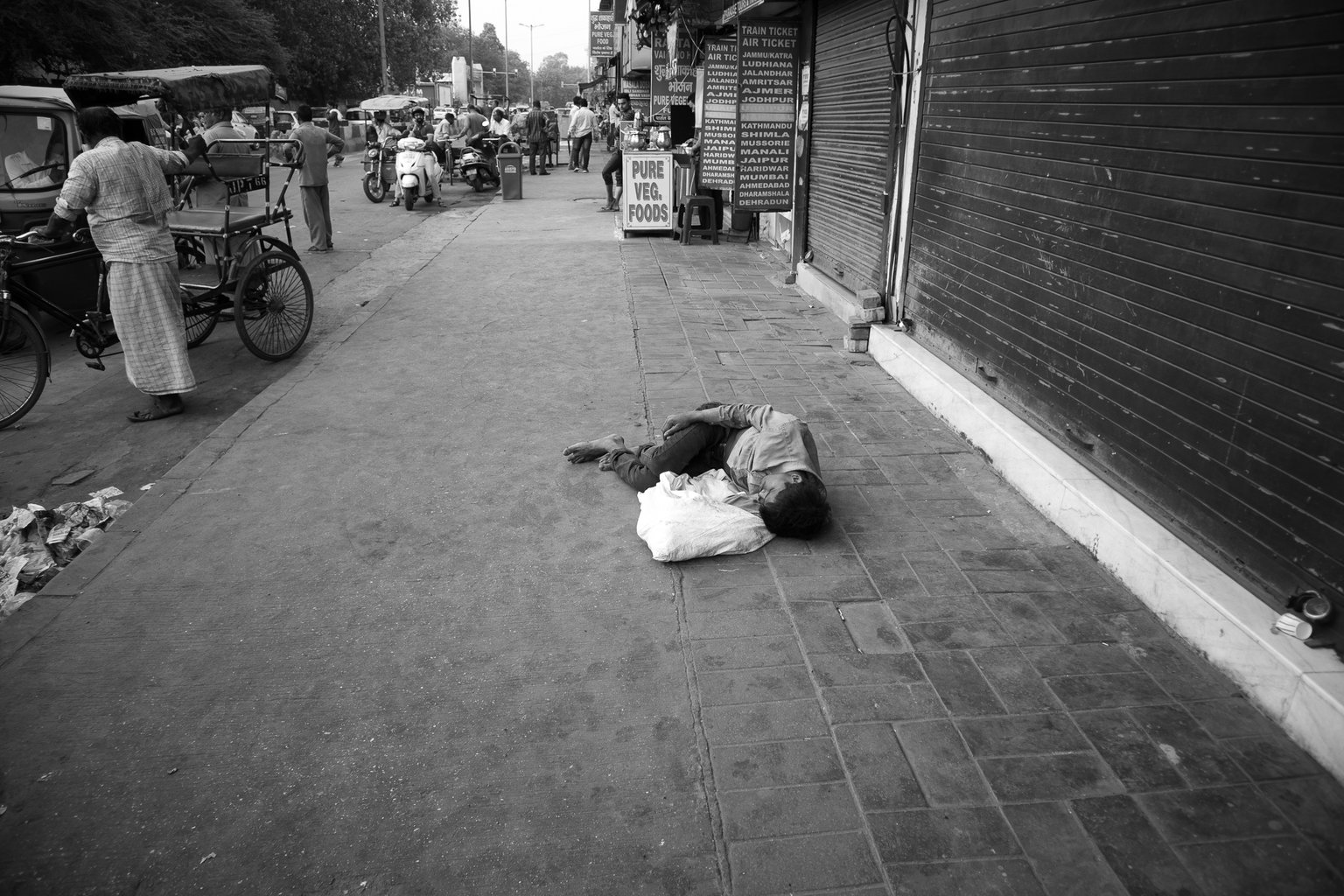 It's sad to see but it's part of Indian life - such poverty…(Paharganj)