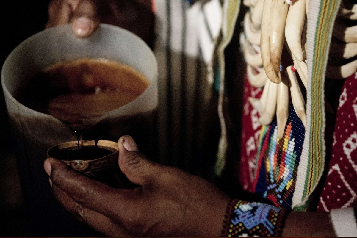 Ayahuasca being prepared