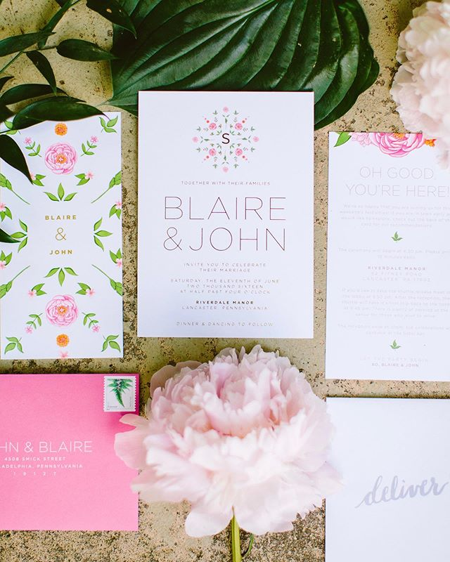 Sharing our wedding stationery in honor of our 3rd anniversary 💕 My husband painted the motifs - perks of marrying an artist! Still one of my favorite projects to date!@johnspeaker 😘 . . . #graphicdesign #weddinginvitations #surprisewedding #weddingstationery  #weddingpaper #customstationery #graphicdesigner #modernbride #thatsdarling #monogram #typography #weddingdetails