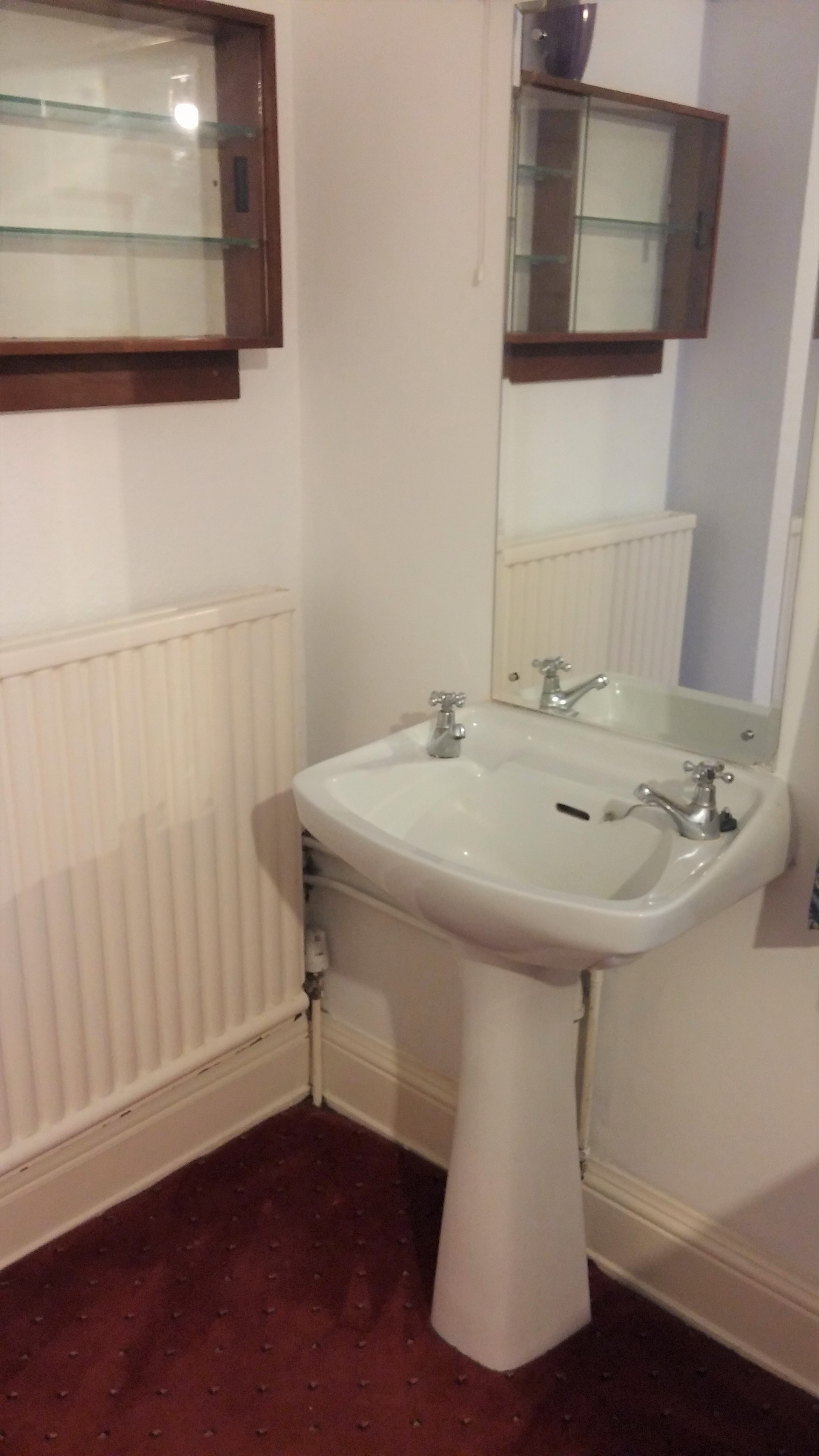 red room private washbasin