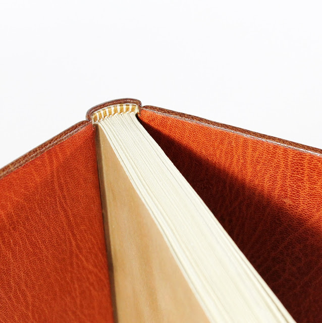 full leather binding with leather doublures - Kaija Rantakari / paperiaarre.com