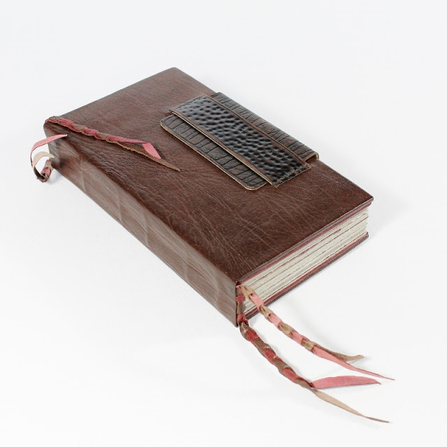 Coptic binding with double leather covers and Ethiopian headbands - Kaija Rantakari / paperiaarre.com
