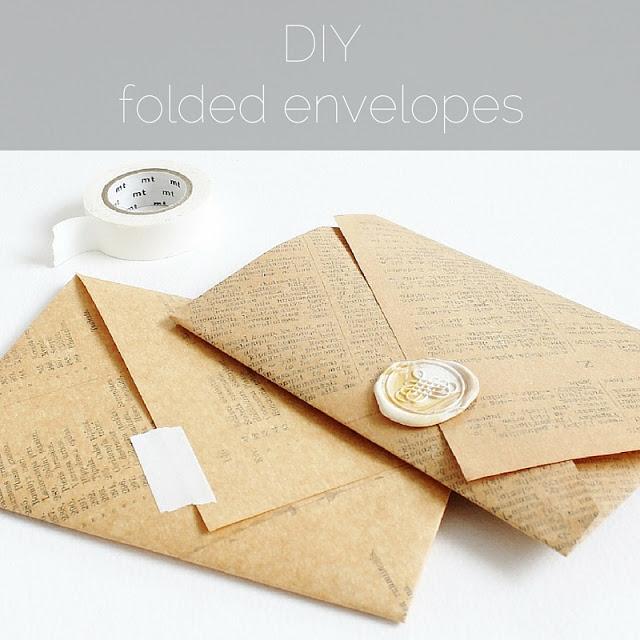 DIY: folded envelopes - paperiaarre.com