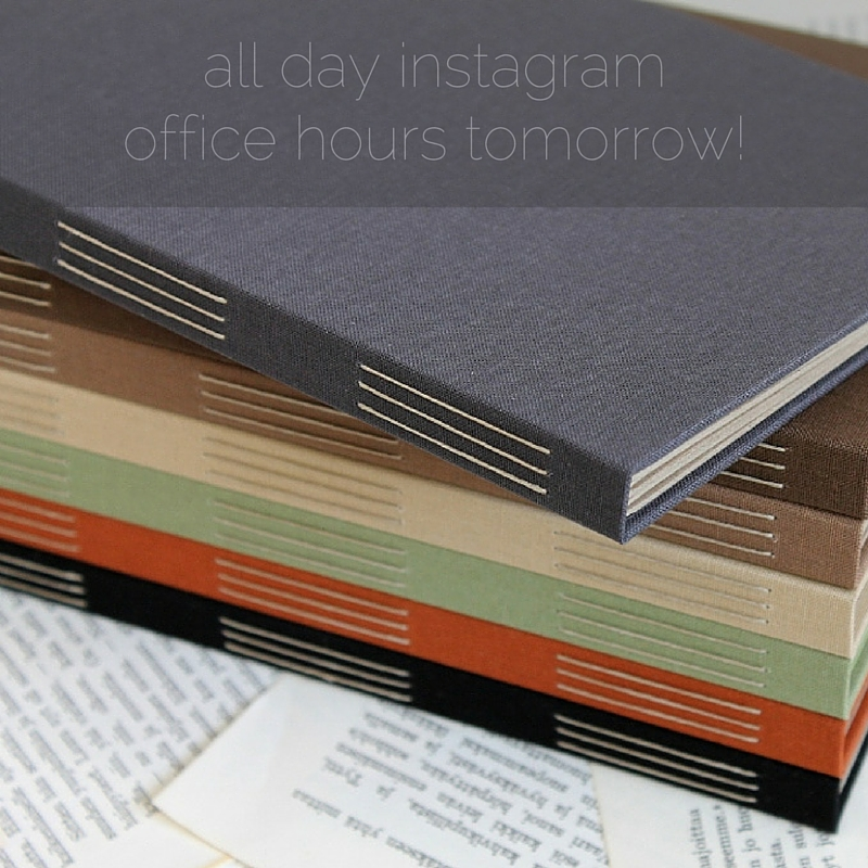 paperiaarre bookbinding office hours on July 29th