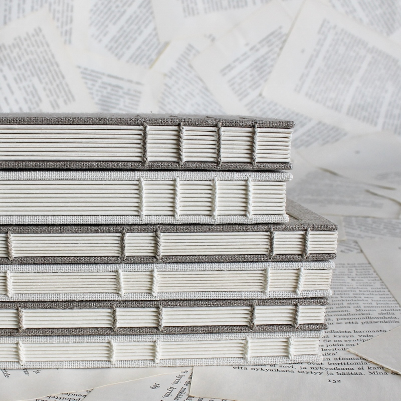 gilt linen journals by Kaija Rantakari / www.paperiaarre.com