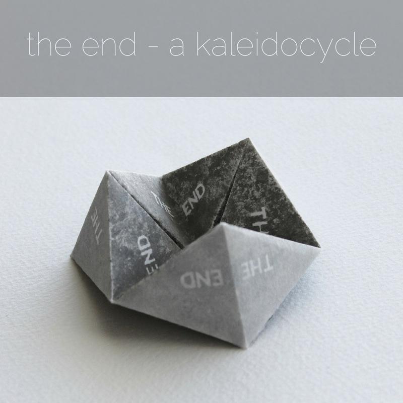 the end - a kaleidocycle artists' book by Kaija Rantakari, 2017 / www.paperiaarre.com
