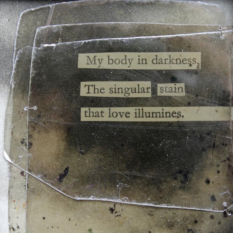 my body in darkness - mixed media collage by Kaija Rantakari, 2017 / www.paperiaarre.com