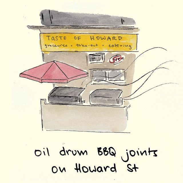 If you can't find oft-forgotten Howard St, just use your nose to follow the meaty waft 🍗💨 #toronto #yyz #the6 #bbq #sweetmeatywaft #soundsdirty #nopejustdelicious