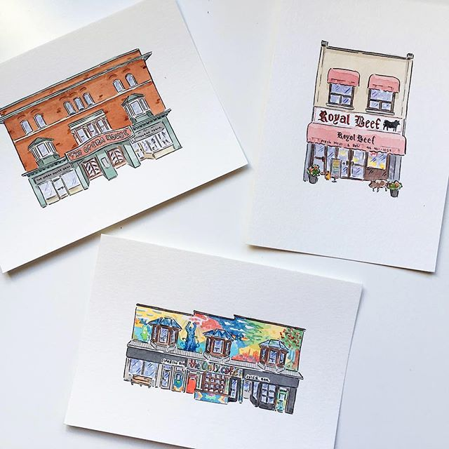 Hey pals! If you've been missing us since we've been posting (and tRUST me, we've been missing you) then know that the illustrator behind all the comics is up and running at @natalieczer. She's busy making watercolour illustrations of all the Toronto streetscapes and storefronts that you know and love, and is now selling prints of 'em online! Check out her online store at natalieczer.com/store for all your holiday gift needs (and maybe get a lil something for yourself 😉)