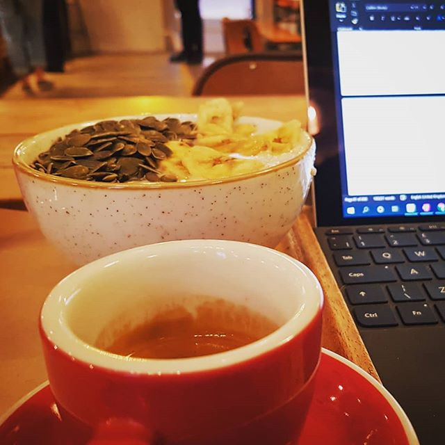 Yummy coffee and another round of book edits. My proof reader has done such an amazing job and it's forcing me to up my game all over the place. Can't wait for you guys to read this! Going to need your help soon - my designer is coming back with an alternative cover design and I'll need your help to choose. As ever, watch this space! 😊📖✒️ #coffee #espresso #porridge #yum #book #writing #writer #earlymornings #author #words #somanywords #exciting #launch #lifecoach #lifecoaching #coach #brighton #brightonlifecoach #12words #cover #judgeabookbyitscover