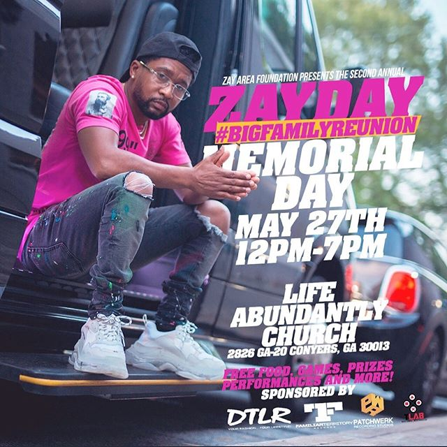 TOMORROW come kick it with Zay & the fam at the 2nd annual Zay Area Foundation family day event. There will be food, games, prizes & performances. This year's theme is #BigFamilyReunion For anybody that isn't aware, @zaytovenbeatz established a charitable organization called @zayareafoundation which provides music education classes and instruments to underserved but deserving young talent, as well as offers financial assistance to qualifying families in need within his community. #doinggoodinthehood #supportlikeyousupportattheclub