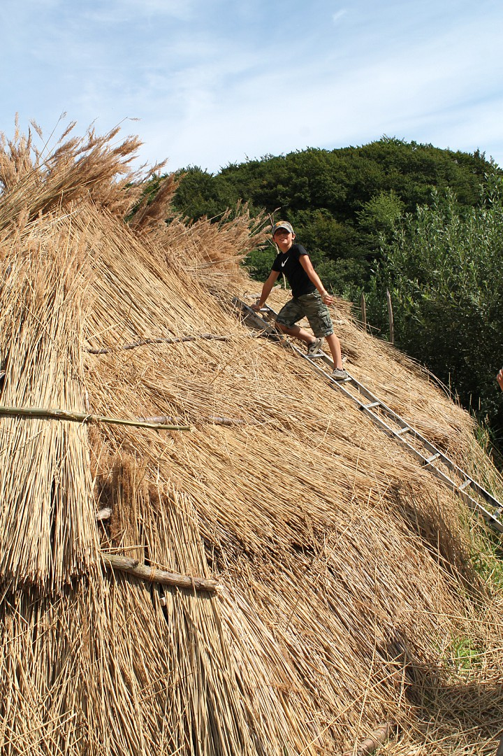 Building our wigwam in Denmark