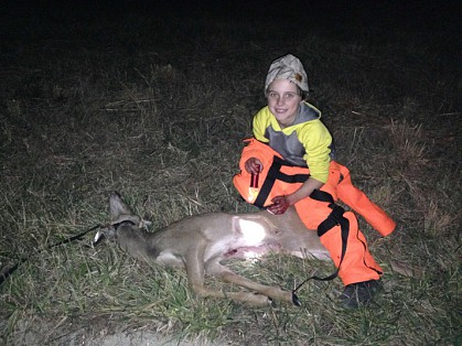 He got a deer!