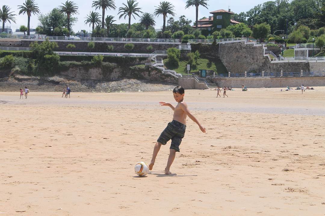 Playing football anywhere!