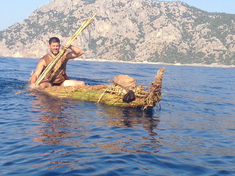 The cattail boat was a success in Turkey on The Great Human Race