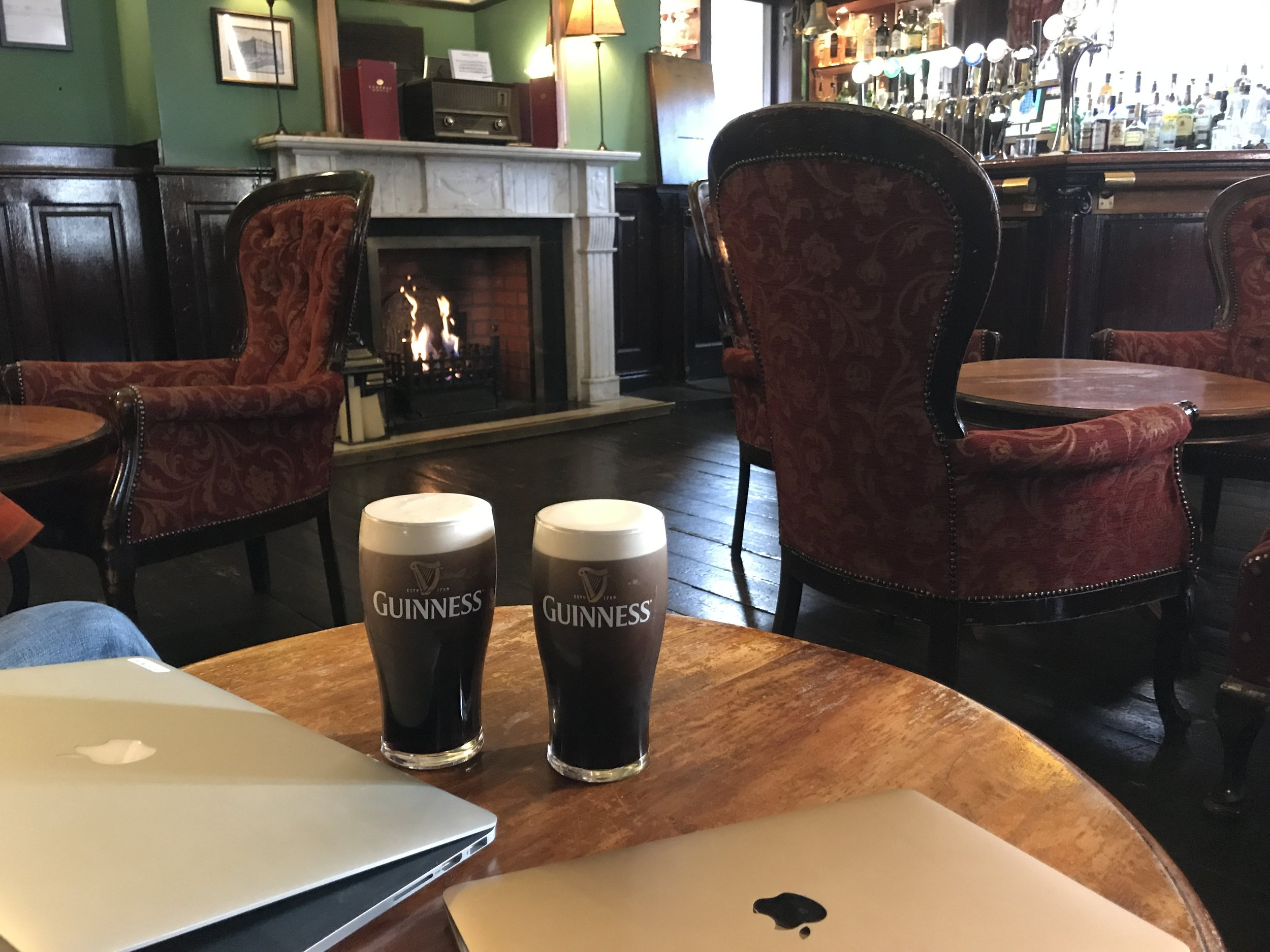 Mission Accomplished! Today's writing spot - The Library Bar