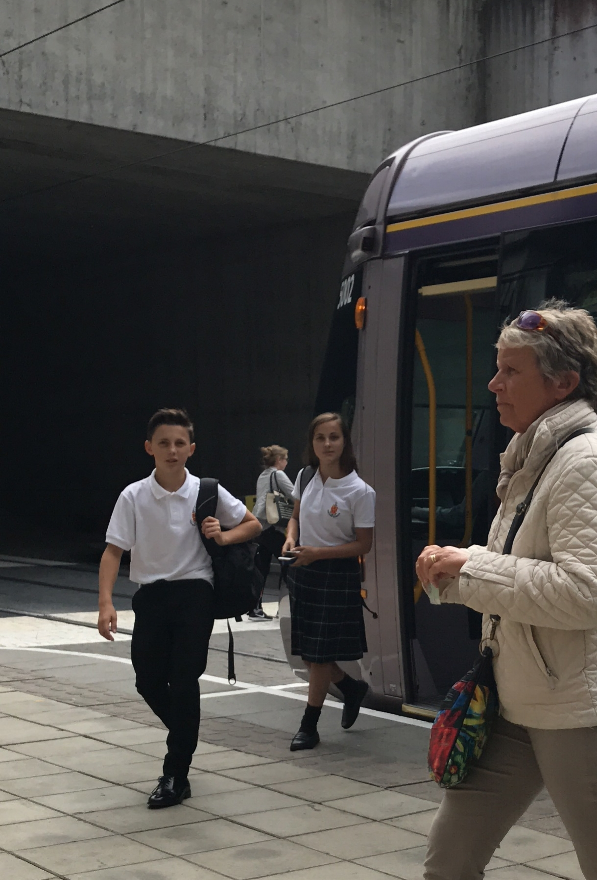 So yes, I was that Mom who waited for them to come off the LUAS on the 1st day of school