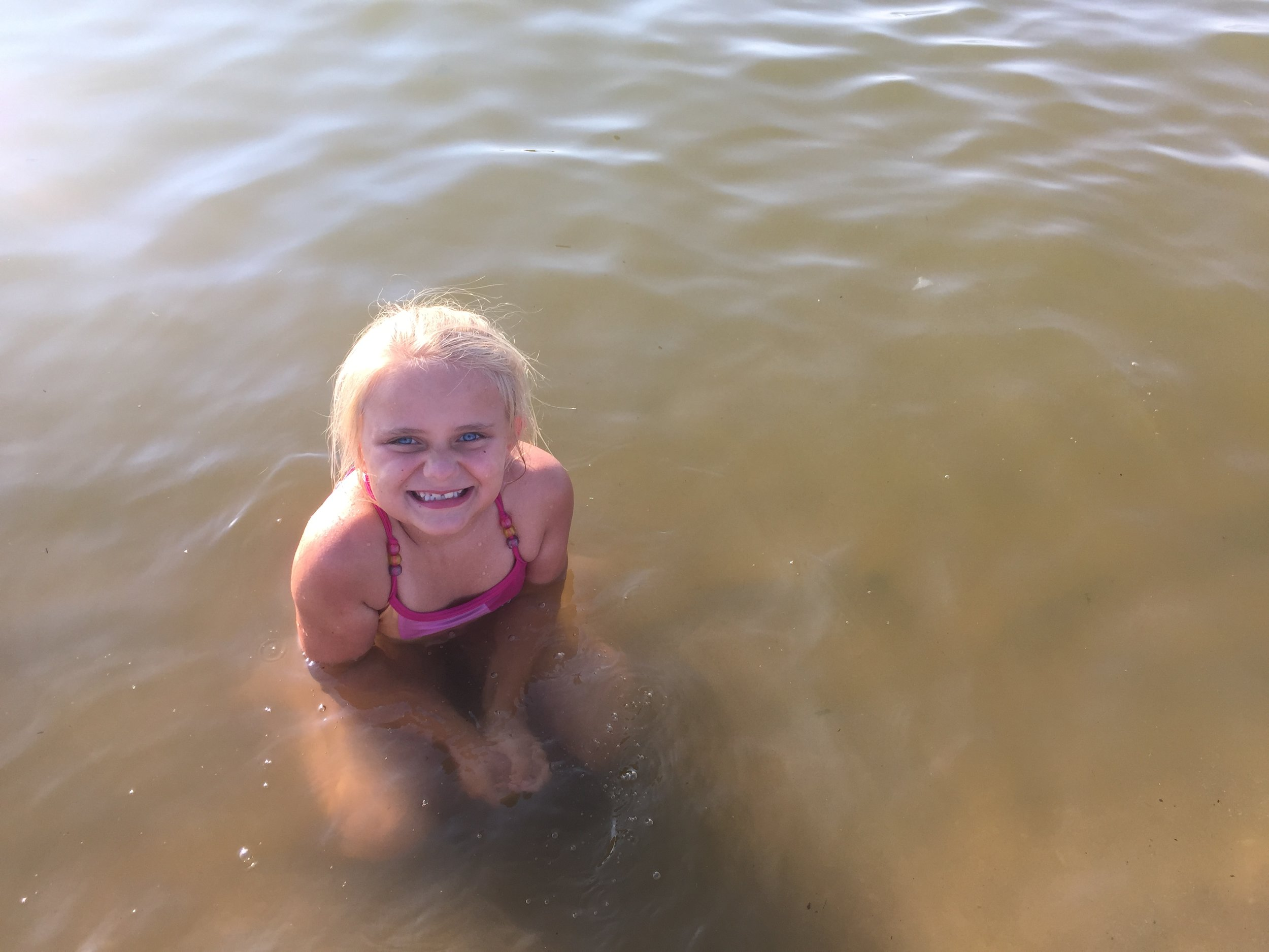 I'm a water baby - river, pool, sea or ocean - I'm in it!