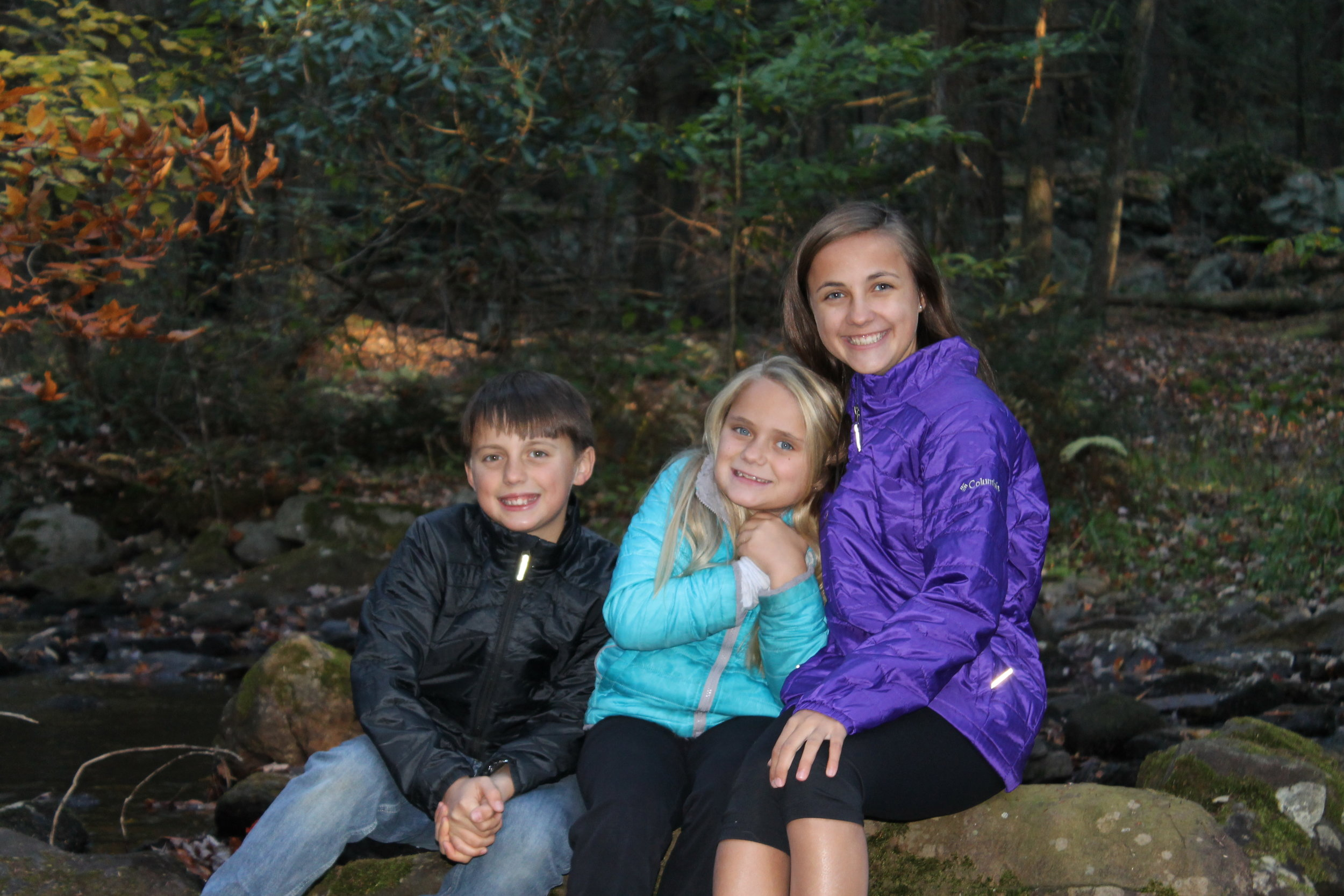 Mountain hiking adventure with the family