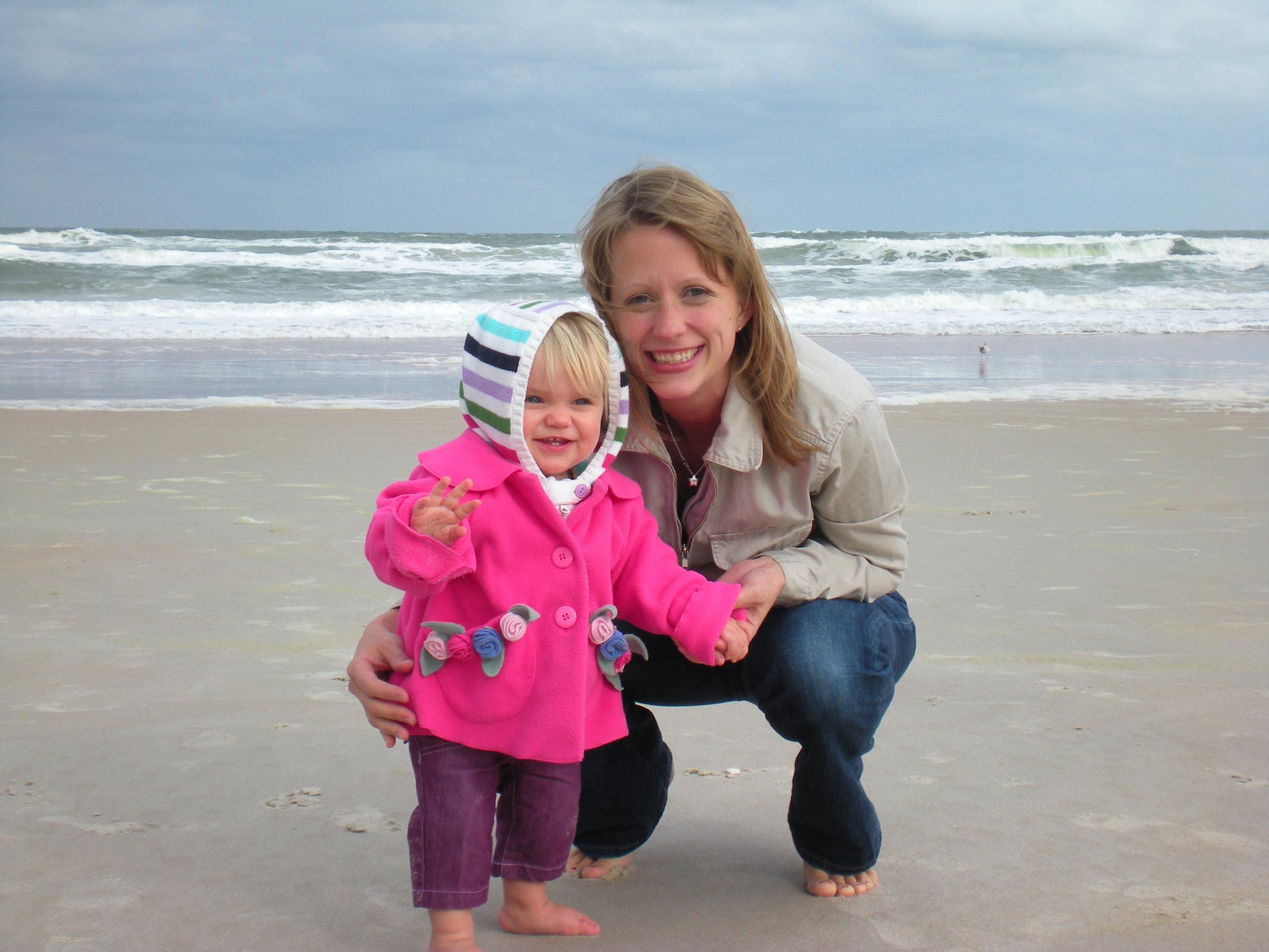 Alyssa's 1st steps on a Florida beach