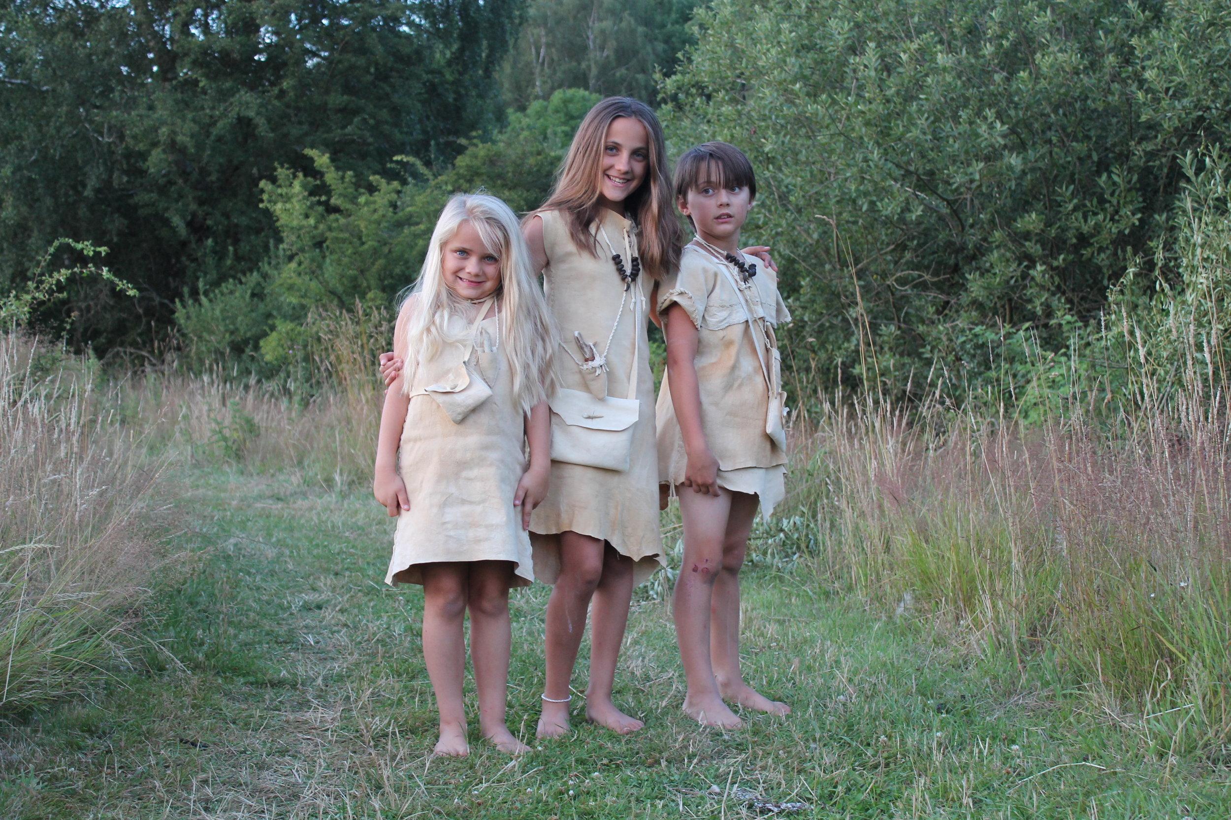 Our Stone Age Family kiddos